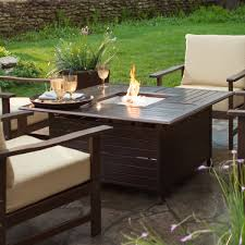 outdoor patio ideas modern fire pit belham living san miguel cast aluminum fire pit chat set