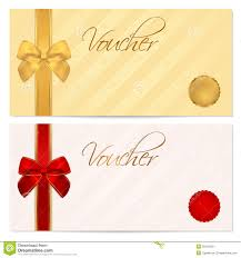 voucher gift certificate coupon template bow royalty stock voucher gift certificate coupon template bow