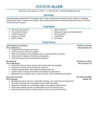 unforgettable administrative coordinator resume examples to stand    administrative coordinator resume sample