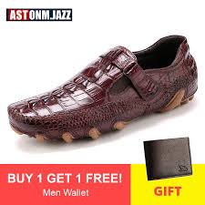 <b>Men's Octopus</b> Genuine Leather Driving <b>Shoes</b> Crocodile Slip On ...
