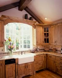 Country Kitchen Layouts A Large Country Kitchen With Knotty Alder Cabinetscabinets Have