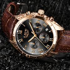 2019 <b>LIGE Mens Watches Top</b> Brand Luxury Waterproof 24 Hour ...