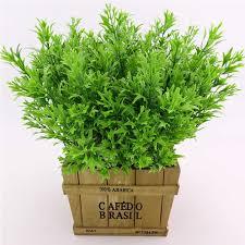 Home Wedding Decor 7 Forks Green <b>Grass Artificial Plants</b> For ...