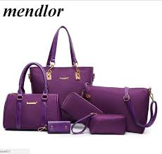 <b>6 Pcs</b> / <b>Set</b> Fashion <b>Women</b> Composite <b>Bags</b> PU Leather Diamond ...