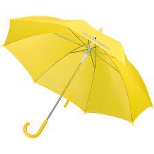 <b>Зонт</b>-трость <b>Unit Promo</b>, желтый (артикул 1233.80) - Проект 111