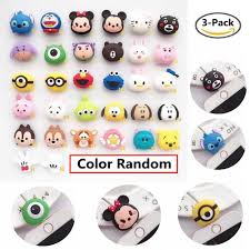 <b>3 pcs Cute</b> Model Animal Cable Bite Protector for Iphone cable ...
