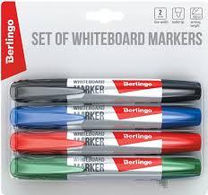 <b>Berlingo</b> Набор <b>маркеров</b> для доски 4 цвета — купить в интернет ...
