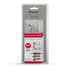 <b>BELSIS</b> BGL1138 <b>jack 3.5mm</b> вилка-2хRCA вилка 5mm купить в ...