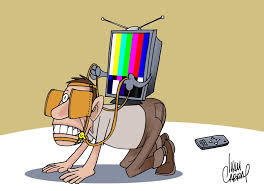 Resultado de imagem para charges - tv fechada