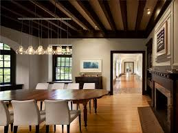 light wood floors dark trim dining room contemporary with wood floors pendant lighting ceiling dining room lights photo 2