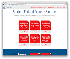 introducing the student federal resume sample database the student federal resume samples screenshot