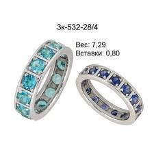Золотое <b>кольцо</b> из родированного белого золота 585 с ...