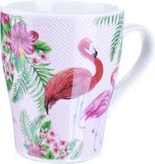 """<b>Кружка Loraine</b> """"Фламинго"""", цвет: белый, розовый, <b>340</b> мл. 2172 ..."""