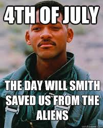 Raise your hand if you're watching Independence Day to celebrate ... via Relatably.com