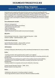special education teacher resume sample resume writing service special education teacher resume sample resume writing education resume sample