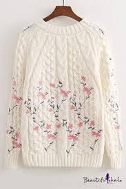 Miu Miu Beige Crystal Embellished Cable Knit Pullover | p r o j e c t ...