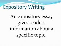 expository writing an expository essay gives readers information    expository writing an expository essay gives readers information about a specific topic