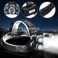 50000Lumens XM-L T6 XPE 4 Modes <b>Waterproof LED</b> Headlamp ...