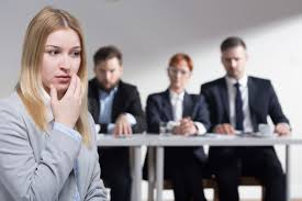 six signs you should not take the job advance your career stressed w before job interview and three business people