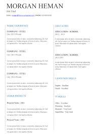 basic tc simple resume template basic cv template