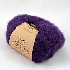 <b>Пряжа Drops Brushed</b> Alpaca Silk unicolour цвет 10 фиалка ...
