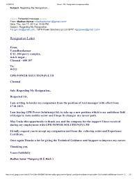 gmail   re  resignation acceptance letter