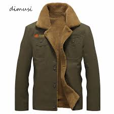 DIMUSI <b>Winter Jacket Mens Military</b> Fleece Warm jackets Male Fur ...