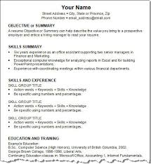 resume examples with skills section  seangarrette coresume examples   skills section
