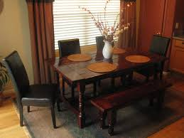 small dining bench: nice rustic corner dining room tables and benches in square dolce small elegant high gloss brown