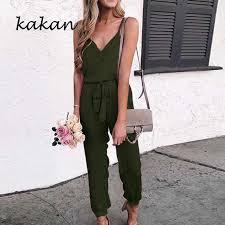 <b>Kakan 2019 summer new</b> women's wide leg jumpsuit sexy sling ...