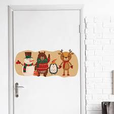 Snowman Wall Stickers Window Decal <b>Elk Christmas</b> Decorative ...