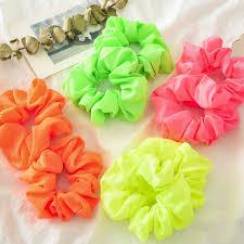 <b>Satin</b> / Velvet Hair Scrunchie Women <b>Elastic</b> Hair Bands Girls Bright ...