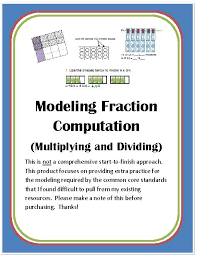 Thanksgiving Themed Multiplication Math Review Worksheets Grades 4 ...Modeling Fraction Computation (Multiplying and Dividing)