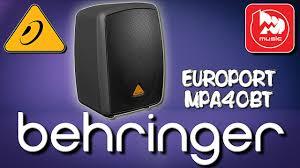 <b>BEHRINGER</b> MPA40BT EUROPORT - активная <b>колонка</b> со ...