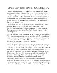 sample essay on international human rights law