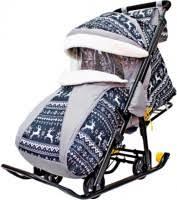 <b>Galaxy Snow Galaxy</b> Luxe – купить <b>санки</b>-коляска, сравнение цен ...