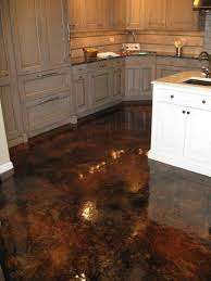 Concrete Floor Kitchen Wood Kitchen Cabinets Stained Concrete Floors Acid Stained