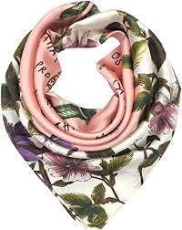 YOUR SMILE Silk Feeling Scarf Women's <b>Fashion Pattern</b> Purple ...