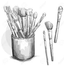 Image result for eyeshadow brushes free clipart