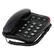 Проводной <b>телефон Texet TX-214</b> черный — купить в интернет ...