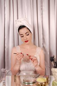 dita von teese on makeup waist training and what she really wears around the house