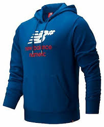 New Balance Men's <b>NB Numeric Logo Stacked</b> Hoodie Blue | eBay