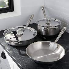 All-Clad ® d5 ® Brushed <b>Stainless Steel 5</b>-<b>Piece</b> Cookware Set
