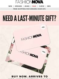 Fashion Nova: Uh-Oh, Forget Mother's Day? Send An E-Gift Card ...