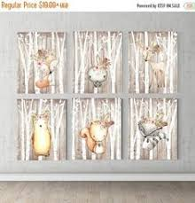 Boho <b>Bear Deer</b> Fox <b>Bunny</b> Woodland Wall Art Print Baby Girl ...