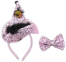 partymania ободок шляпа ведьмочки с бабочкой цвет белый черный
