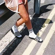 Adidas socks, Adidas <b>slides</b>, Adidas <b>slides</b> outfit