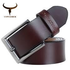 COWATHER 2019 <b>men</b> belt cow genuine leather <b>luxury strap male</b> ...