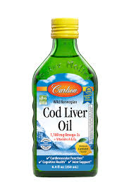 Carlson 1100 mg, 8.4 fl oz Omega-3 <b>Wild Norwegian Cod</b> Liver Oil + ...