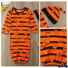 H-C  <b>Fashion Halloween Pumpkin Newborn</b> Baby Sleep Gown ...